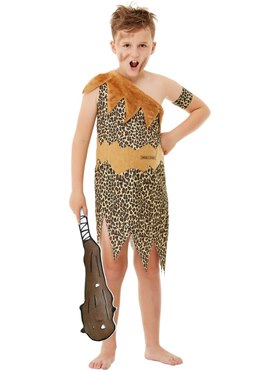 Child Horrible Histories Cave Costume - Back View