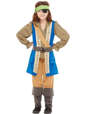 Child Horrible Histories Pirate Captain Costume Couples Costume