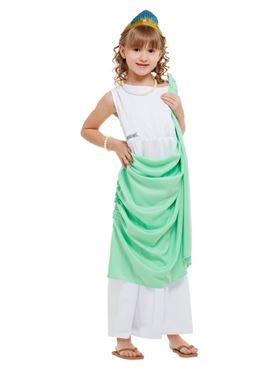Child Horrible Histories Roman Girl Costume - Back View