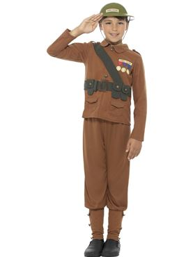 Child Horrible Histories Soldier Costume