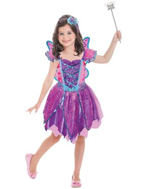 Child Hot Pink Fairy Costume