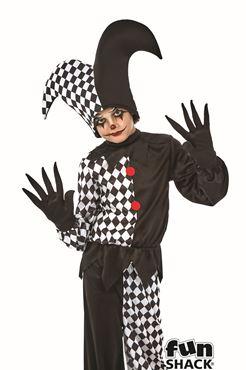 Child Jester Boy Costume - Back View