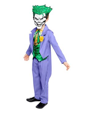 Child Joker Comic Style Costume - Back View