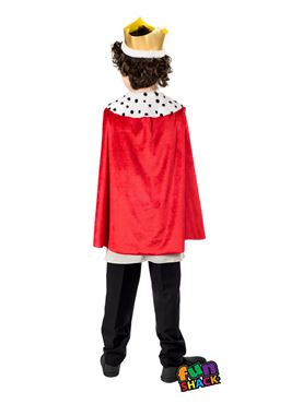 Child King Costume - Back View