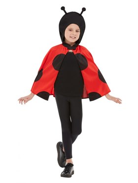Child Ladybird Hooded Cape Couples Costume