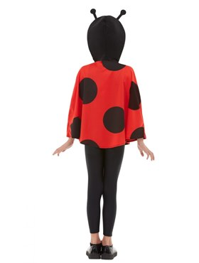 Child Ladybird Hooded Cape - Back View