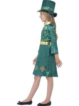 Child Leprechaun Girl Costume - Back View
