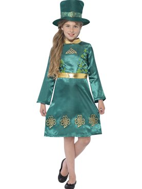 Child Leprechaun Girl Costume