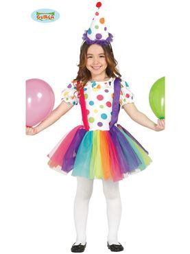 Child Little Girl Clown Costume