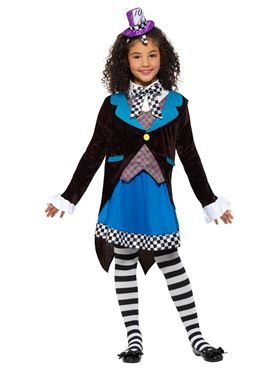 Child Little Miss Hatter Costume - Side View