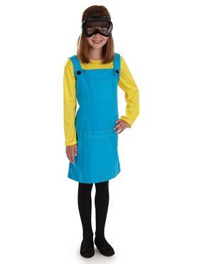 Child Little Welder Girl Costume - Back View