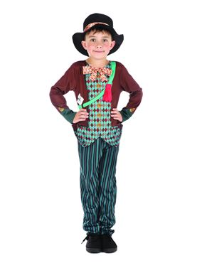 Child Mad Hatter Boy Costume - Side View