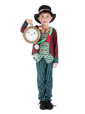 Child Mad Hatter Boy Costume - Back View