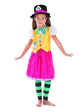 Child Mad Hatter Girl Costume - Side View