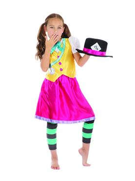 Child Mad Hatter Girl Costume - Back View