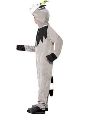 Child Madagascar King Julien the Lemur Costume - Back View