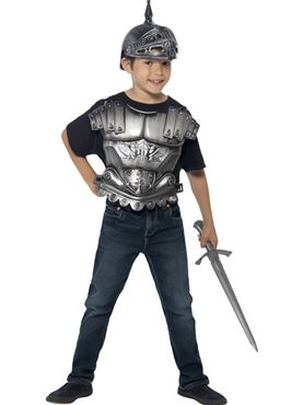 Child Medieval Knight Instant Kit - Back View