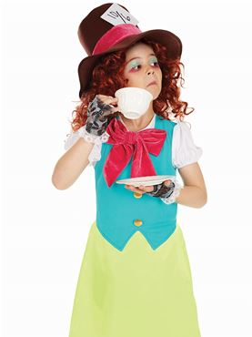 Child Miss Hatter Costume - Back View