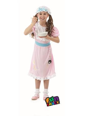 Child Miss Muffet Girl Costume - Back View
