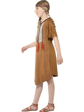 Child Native Indian Girl Costume - Back View