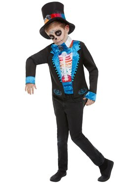 Child Neon Day of The Dead Boy Costume