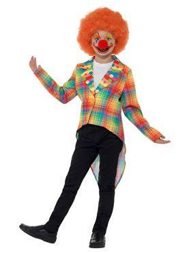 Child Neon Tartan Clown Tailcoat - Side View