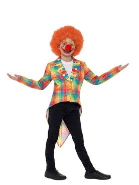 Child Neon Tartan Clown Tailcoat