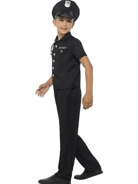 Child New York Cop Costume - Back View