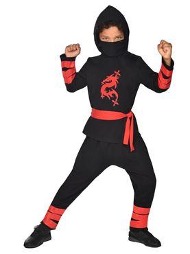 Child Ninja Warrior Black Costume