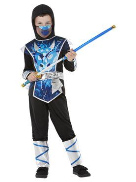 Child Ninja Warrior Costume - Back View