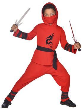 Child Ninja Warrior Red Costume
