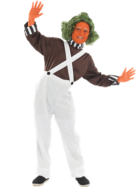 Child Oompa Loompa Factory Worker Costume Couples Costume