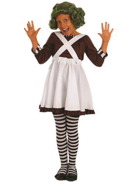 Child Oompa Loompa Factory Worker Girl Costume Couples Costume