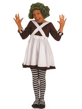 Child Oompa Loompa Factory Worker Girl Costume Thumbnail