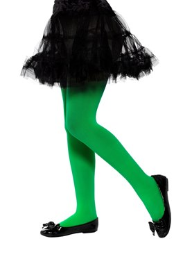 Child Opaque Green Tights