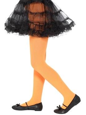 Child Opaque Orange Tights