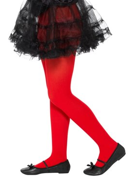 Child Opaque Red Tights