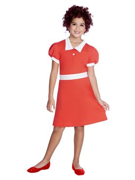 Child Orphan Annie Costume - Side View