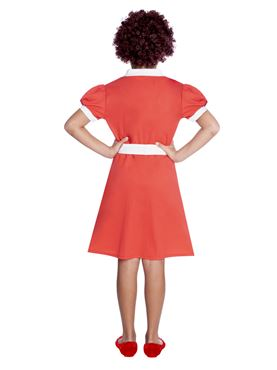 Child Orphan Annie Costume - Back View