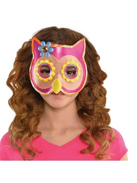 Child Owl Sequin Mask