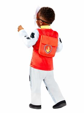 Child Paw Patrol Deluxe Marshall Costume - Back View