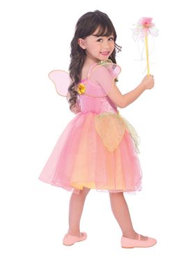 Child Peach Sorbet Fairy Costume - Back View