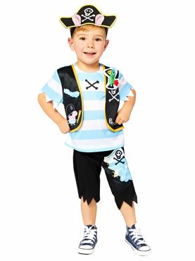 Child Peppa Pig George Pirate Costume
