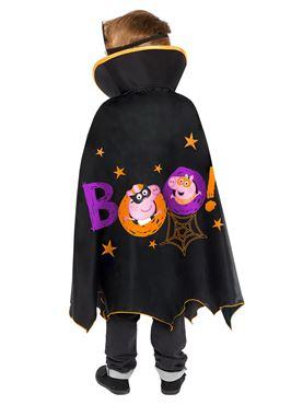 Child Peppa Pig Halloween Cape Set Costume - Back View
