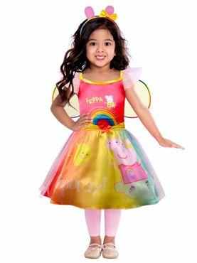 Child Peppa Pig Rainbow Dress Costume