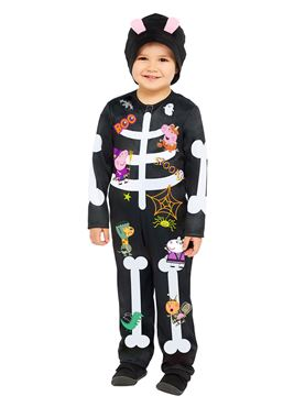 Child Peppa Skeleton Costume Couples Costume