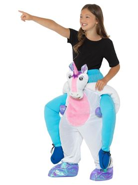 Child Piggy Back Unicorn Costume - Side View