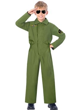 Child Pilot Jumpsuit Costume