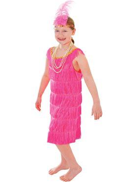 Child Pink Flapper Costume
