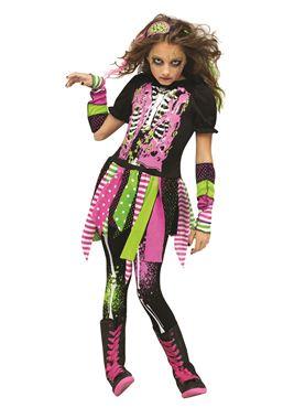 Child Neon Zombie Costume